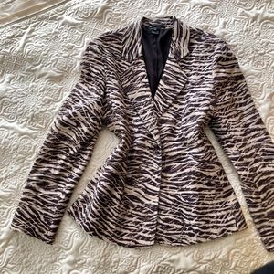 NWOT Ellen Tracy Cotton & Silk Blazer Fully Lined